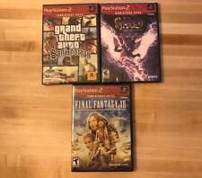 3 SEALED PS2 GAMES: GTA: SAN ANDREAS, FINAL FANTASY XII, SPIRO: A NEW BEGINNING