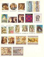 1975 San Marino Annata Completa Nuovi Come Unificato 22 Valori Integri