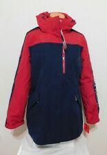 Tommy Hilfiger Womens 3in1 Blue RED Winter Coat with Hood Parka Size LARGE