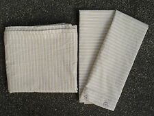 IKEA Alvine Ljuv 3 pc Set Tan Striped Flat Sheet King Size + 2 Pillowcases EUC