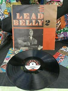 LEAD BELLY VINYL lead belly 2 LP Storyville '69 1ST PRESS Blues Anthology Vol 12
