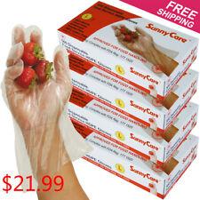 2000pcs Poly HDPE Food Handling Service Disposable Gloves (Latex Vinyl Free) - L