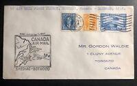 1939 Shediac Canada to Botwood Newfoundland FFC airmail First Flight Cover