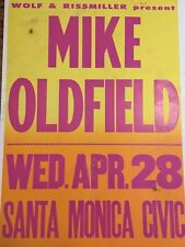 Mike Oldfield Telephone Pole Boxing Style LA Concert Poster Rare Promo