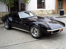 1969 Corvette Stingray 427 black 24X36 inch poster, sports car, muscle car