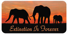 """Elephant Vinyl Decal Bumper Sticker Personalize Gift Any Text 4""""x 8"""" Endangered"""