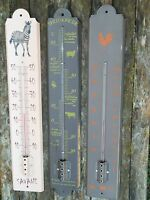 THERMOMETRE  EMAILLE 50 CM CHOIX 4 EMAIL VERITABLE NEUF INT/EXT FAB EN FRANCE