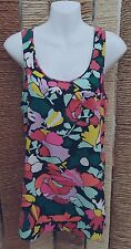 RIVER ISLAND Ladies Floral Racer Back Sleeveless Blouse Size 10