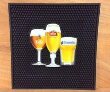 "Stella Artois Leffe Hoegaarden Best of Belgium Bar Mat 12"" x 12"" New & Free Ship"