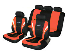 VOLKSWAGEN VW BORA Universal SPORTS Fabric Car Seat Covers in BLACK & CORAL PINK