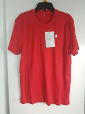 RED LARGE Apple Employee Holiday crew red tee shirt new size XS unisex