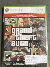 Grand Theft Auto IV Promo Pre-Order XBOX 360 Brand New & Sealed GTA 4 (no game)