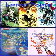 Pleinement évolué brillant starter pokemon avec 6IV lune, soleil, alpha & omega x-y 3DS