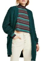 Free People Womens One In A Lifetime Cardigan Evergreen Green Size XS