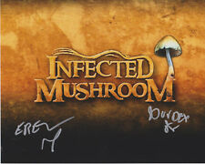 INFECTED MUSHROOM Electronica Music SIGNED 8X10 Photo c SPITFIRE