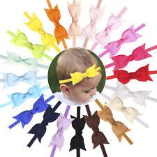 20 Colors Soft Baby Headbands Hair Bows Elastic Nylon Hair Bands for Baby Girls