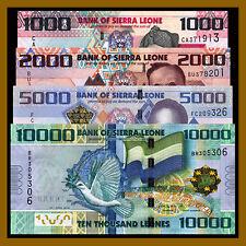 Sierra Leone 1,000 2000 5000 10,000 Leones (4 Pcs Set), 2010 P-30/31/32/33 Unc