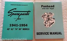 Harley Panhead Parts Book Service Manual Combo 1941-'54 1948-'57