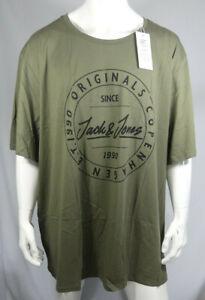 JACK AND JONES Mens JORMOVE TEE SS CREW NECK FST T-Shirt Size UK 6XL MTJul25-7