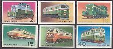 KOREA Pn. 1976 MNH** SC#1525/30 set, Locomotives. Imp.