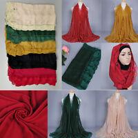 Lace Border Muslim Long Scarf Hijab Islamic Shawls Arab Headwear Shayla