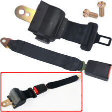 Universal Car Auto 2 Point Retractable Safety Seat Belt Buckle Adjustable