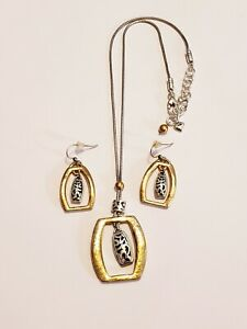 """Brighton """"Sensation"""" Duo-Tone Necklace and Earring Set"""