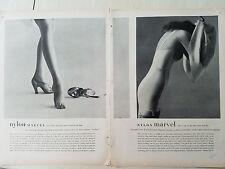 1947 Womens Smoothie Controleur Girdle and Artcraft Hosiery Legs Phto Fashion Ad