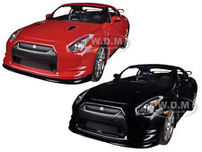 2009 NISSAN GT-R R35 BLACK & RED SET OF 2 CARS 1/24 JADA 96811-SET