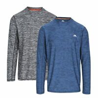 Trespass Wentworth Mens Long Sleeved Active Top Reflective Round Neck Jumper