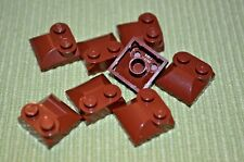 (8) BROWN 2x2 Specialty Cover (Duck Bill)  Bricks ~  Lego  ~ NEW ~