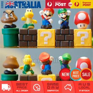 5x Super Mario Bros Figures Toy Cake Topper Display Figurine Decor Kid Gift Set