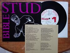 """Bible Stud - Cried / Tit For Tat - 7"""" Single  Bible Stud Records – BS50"""