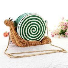 "Cute handmade ""Spring Forward"" Wicker Snail Cross Body Bag CLUTCH"