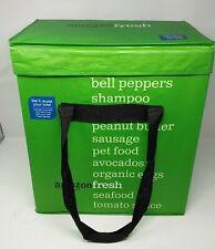 Amazon Fresh Reusable Green Tote Bag Collectible w/ Insulation Blankets RARE