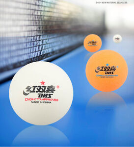 120 x DHS 1Star D40+ Table Tennis Ball, CELL-FREE-DUAL, ITTF APPROVED, NEW US