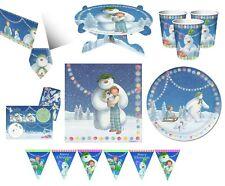 SNOWMAN & SNOWDOG Christmas Xmas Party Range - Tableware Balloons & Decorations