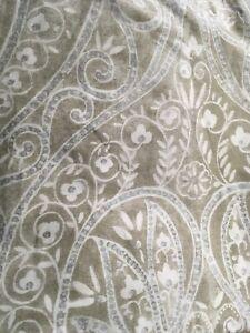 "Tahari Home Fabric Shower Curtain Brown White & Silver 72"" x 72"""