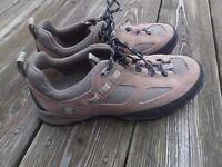 TIMBERLAND WOMEN'S BROWN LEATHER ANKLE EURO HIKER HIKING TRAIL BOOTS SHOES 9M