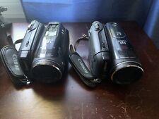 Lot Of 2 Broken For Parts Canon Vixia HV30 MiniDV High Definition Camcorder