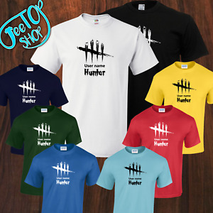 Personalised Dead By Daylight Horror Inspired Game Tshirt 8 Colors 5yrs to 5XL