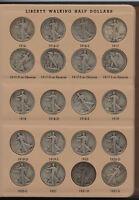 Walking Liberty Half Dollar Set 1916 - 1947 Collection & 7160 Dansco Album AT92
