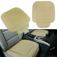 2pcs Car Auto Front Seat Cushion PU Leather Breathable Protector Pad Cover Mat