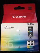 1 x Canon Cli-36 Cli36 Colour Original Oem Pixma Inkjet Cartridge Nib Sealed