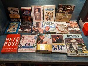 Lot 16 MLB Books Baseball Willie Mays Nolan Ryan Daryl Strawberry Pete Rose