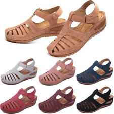 Womens Comfort Sandals Closed Toe Mules Summer Slippers Casual Flat Shoes Size