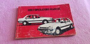 Mitsubishi Colt owners manual wallet guide book lancer 1983 - 1987 V65