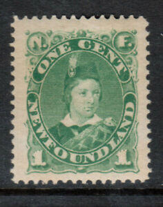 Newfoundland #45a Extra Fine Never Hinged Huge Margin Gem **With Certificate**