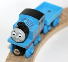 Genuine Thomas Friends Wooden Train Railroad - Little Engineers Thomas w/Cart