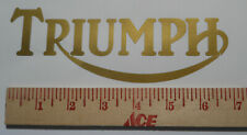 Triumph sticker No Outline Bonneville Trident Tiger Gold Metallic or any color